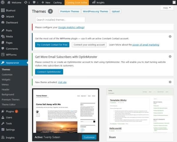 Changing your blog design